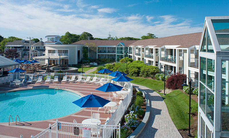 Hyannis Harbor Hotel Outdoor Pool Patio Firepit