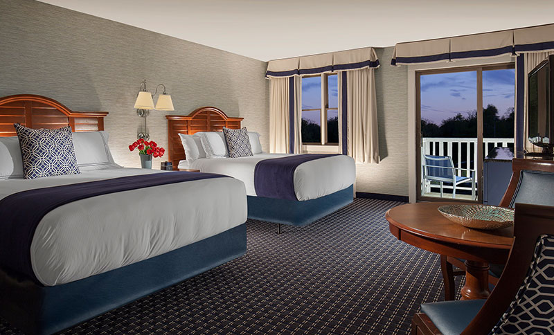 Two Queens Deluxe Rooms at Hyannis Harbor Hotel